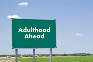 Adulthood Ahead Sign