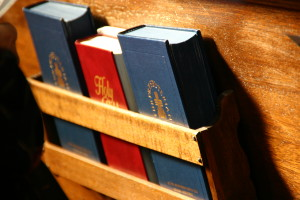 pew and hymnal